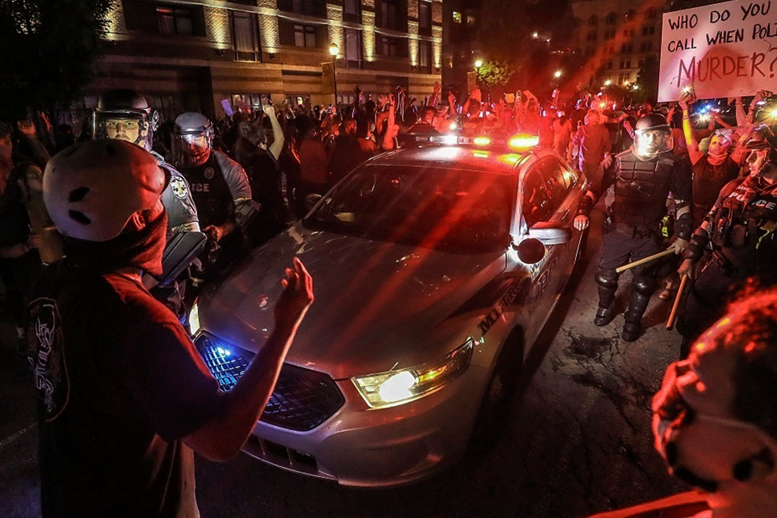 US endures night of protests
