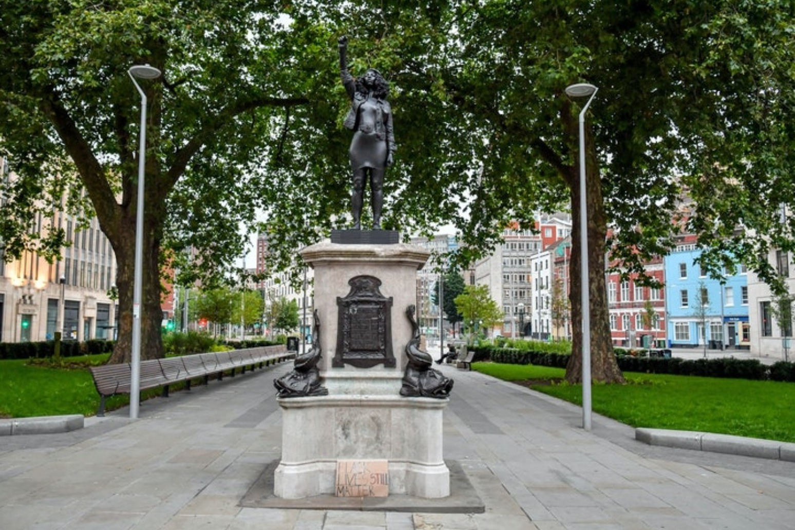 Edward Colston statue replaced by sculpture of black protester