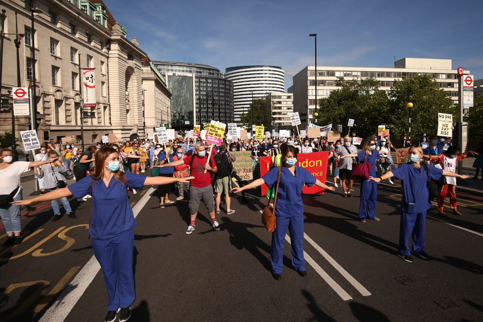 NHS staff prepare to march for higher wages