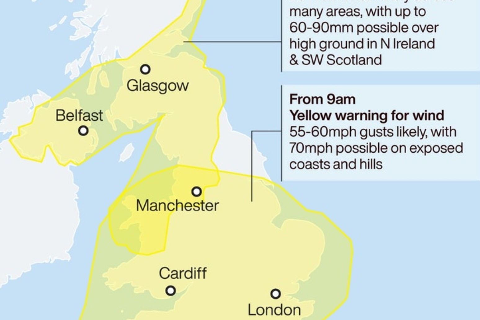 Storm Francis: UK and Ireland braced for wet and windy conditions