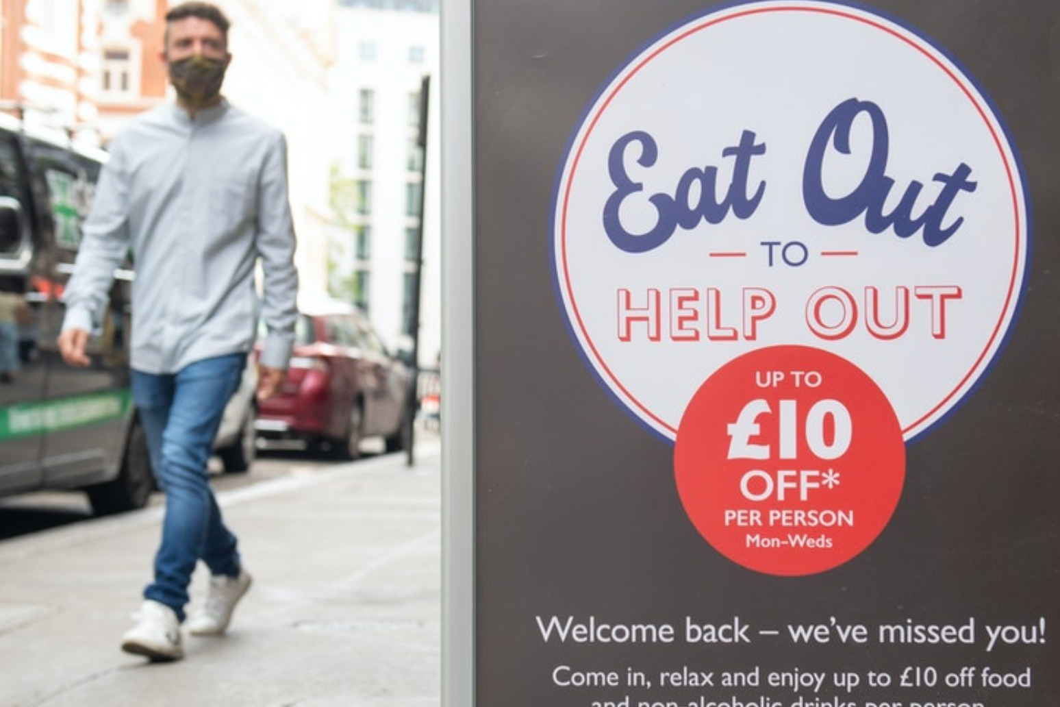 Eat Out to Help Out scheme sees inflation fall to near-five year low