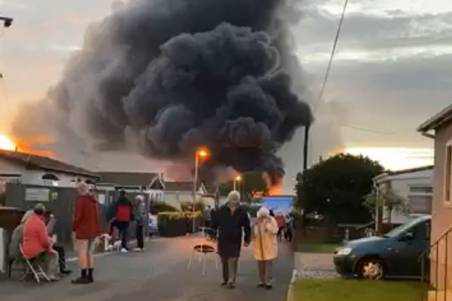Firefighters battling huge industrial fire after reports of explosion