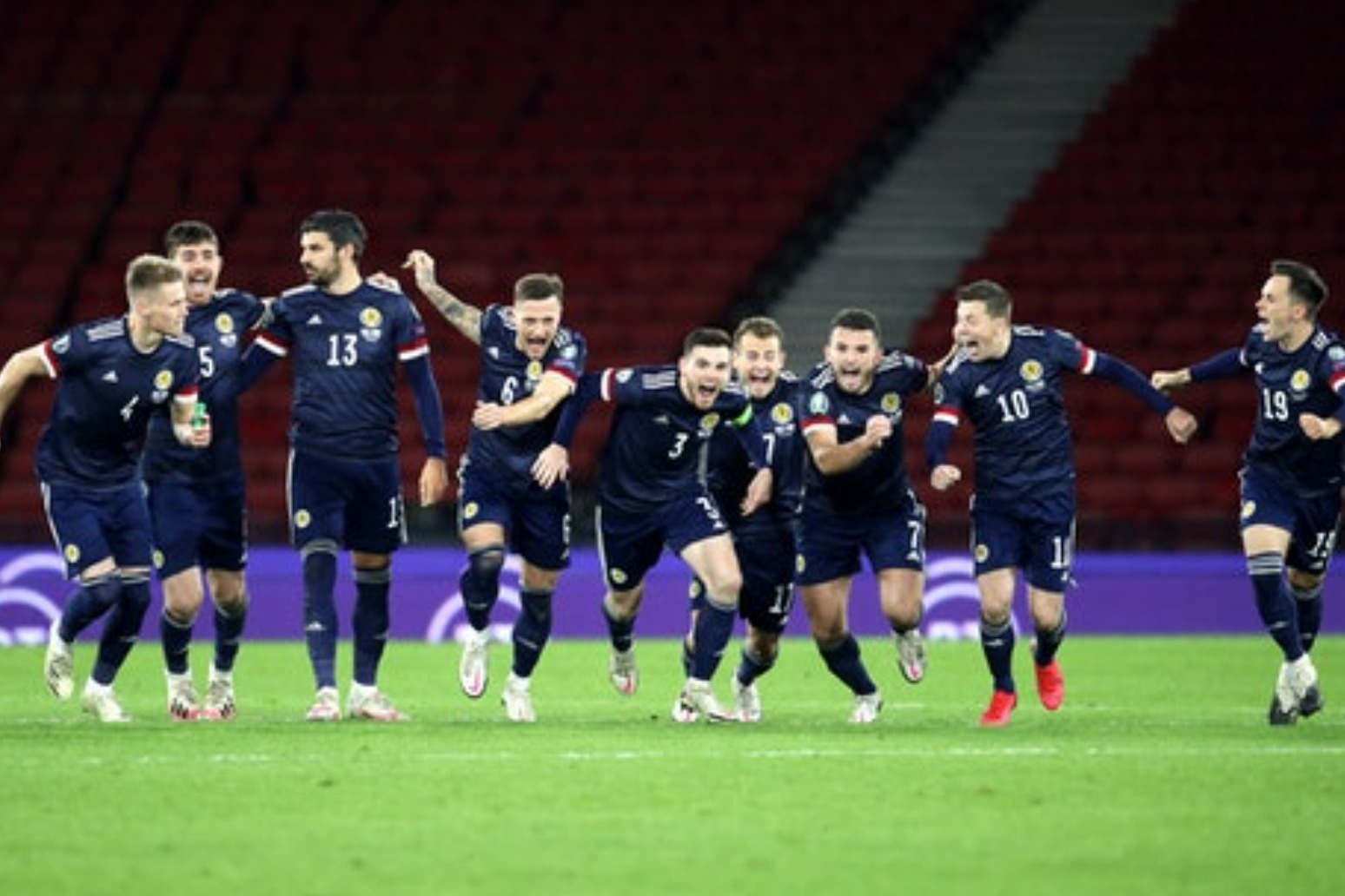 Scotland breathe sigh of relief after reaching Euro 2020 final