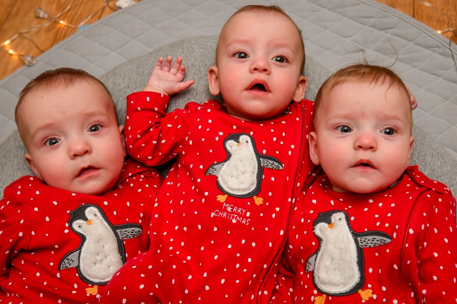 Miracle triplets celebrate first Christmas thumbnail