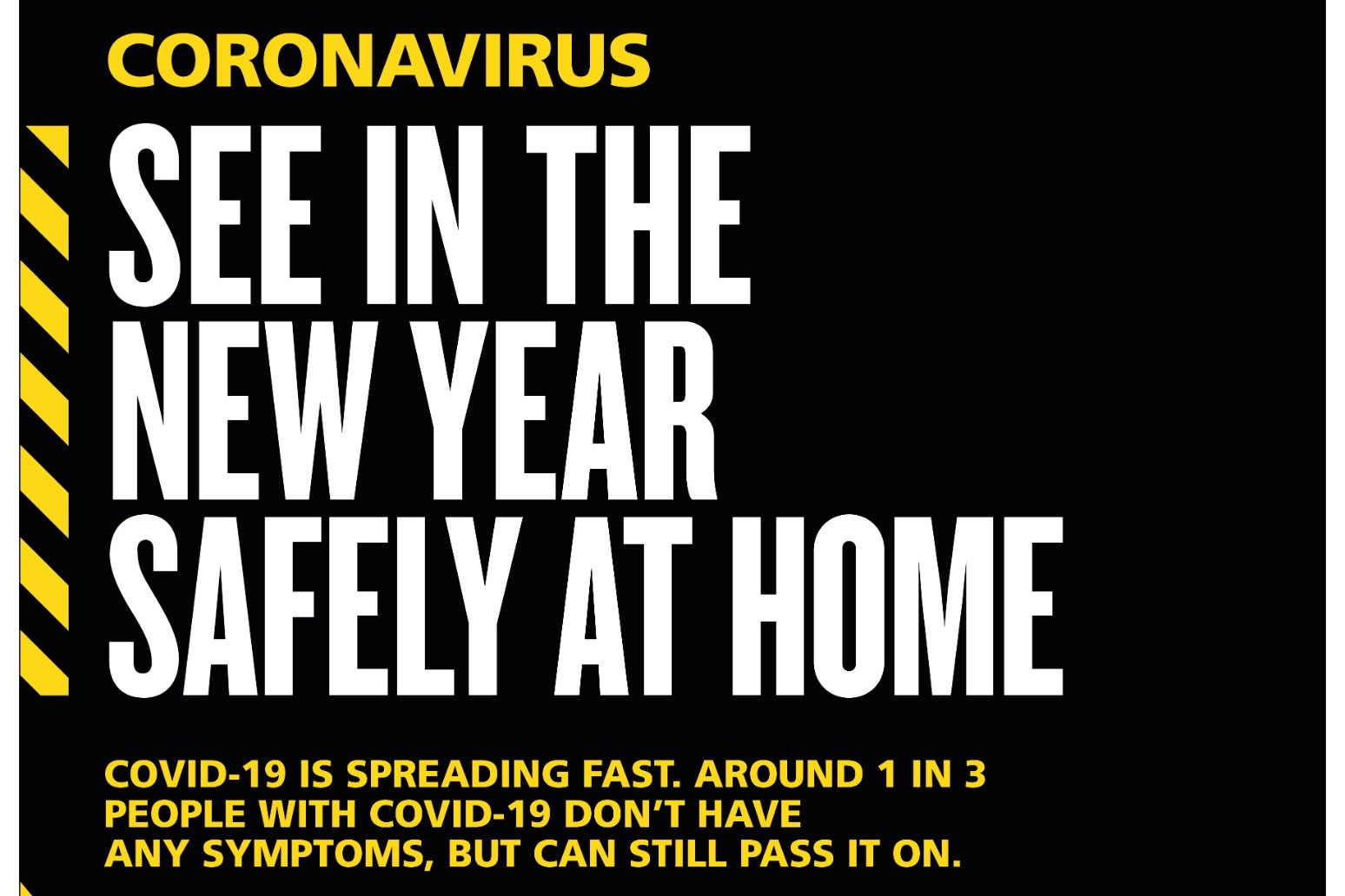 Act like you have virus and stay at home this New Year's Eve, public warned