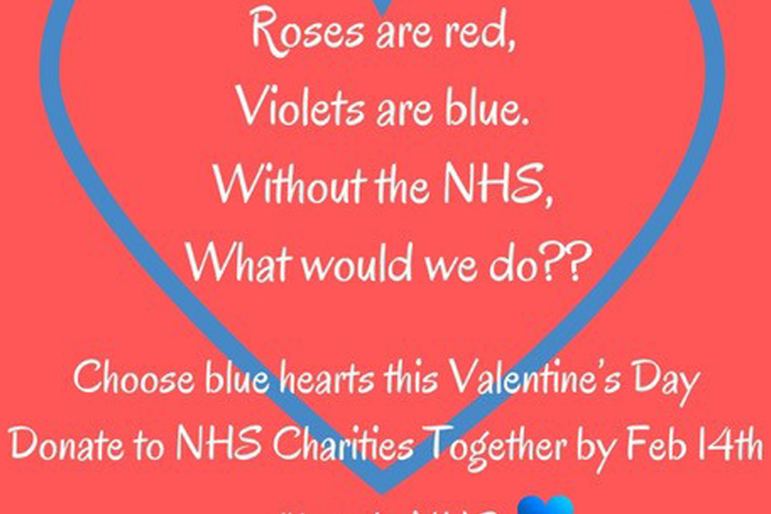 A campaigner is calling for people to swap 'cutesy cards' for NHS donations this Valentine's Day
