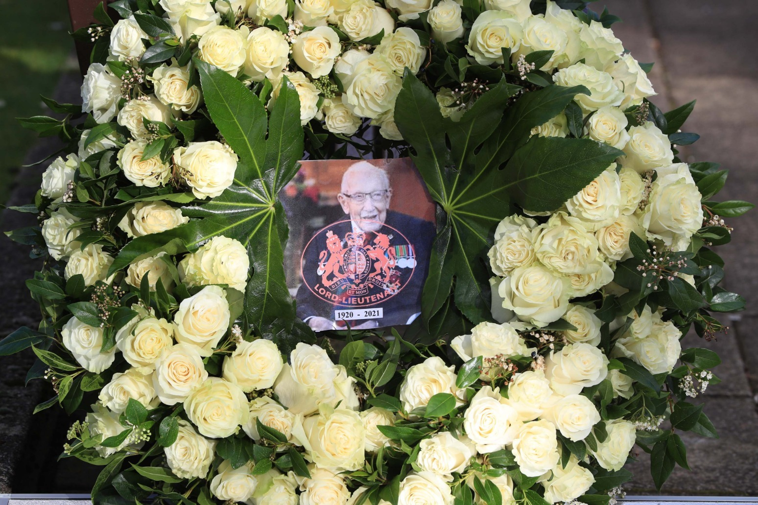 Captain Sir Tom Moore remembered as a 'Keighley lad' in his home town