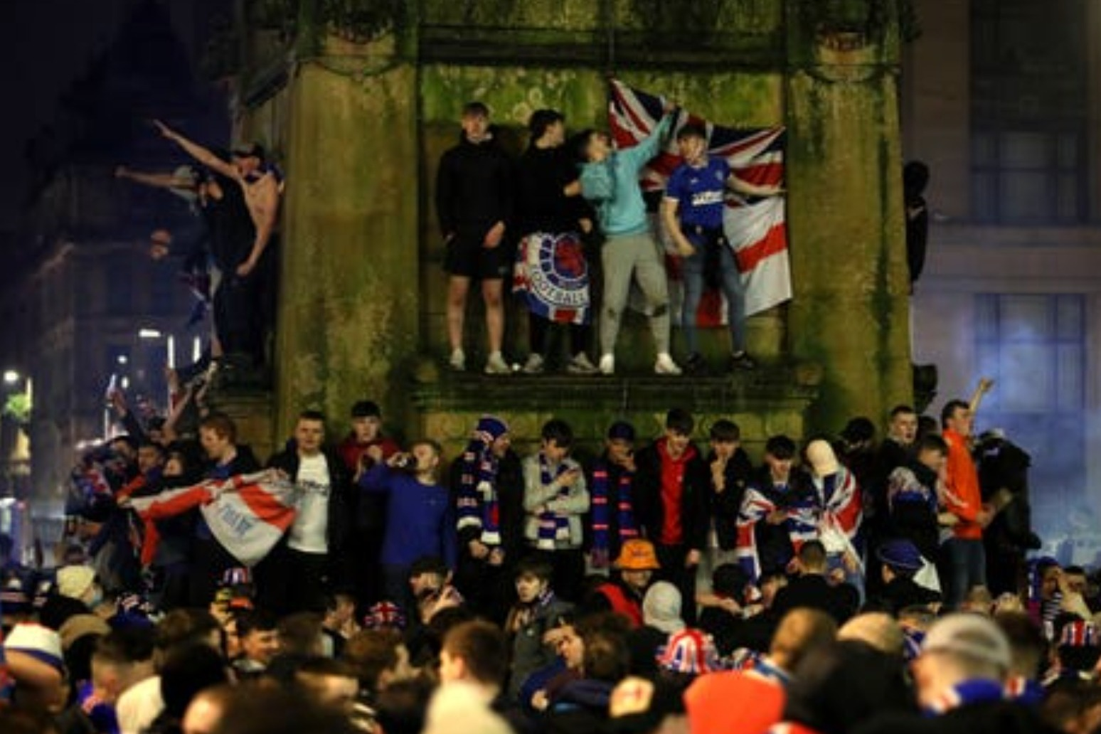 Sturgeon condemns 'infuriating' scenes as Rangers fans urged to 'go home'
