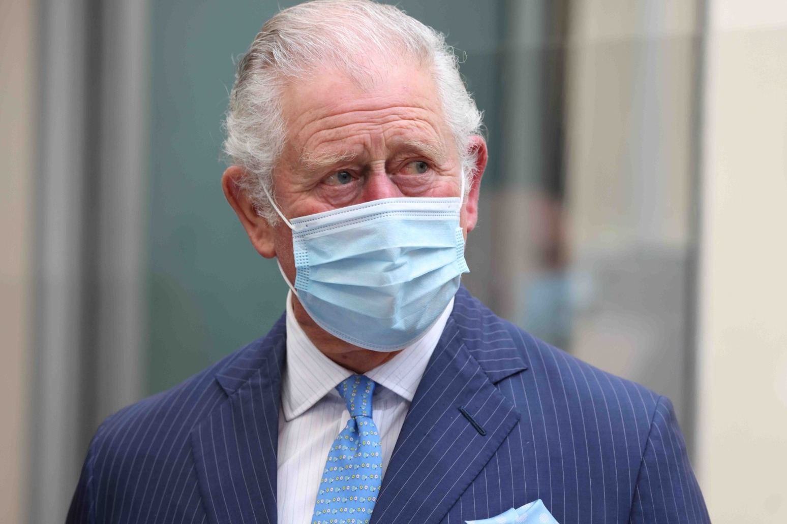 Charles chuckles when asked if he has seen Harry and Meghan interview