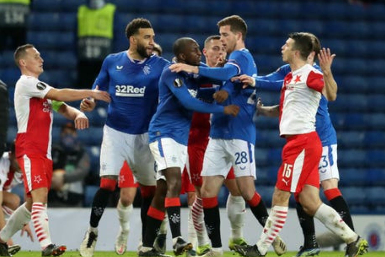 UEFA opens investigation into Rangers-Slavia Prague incidents