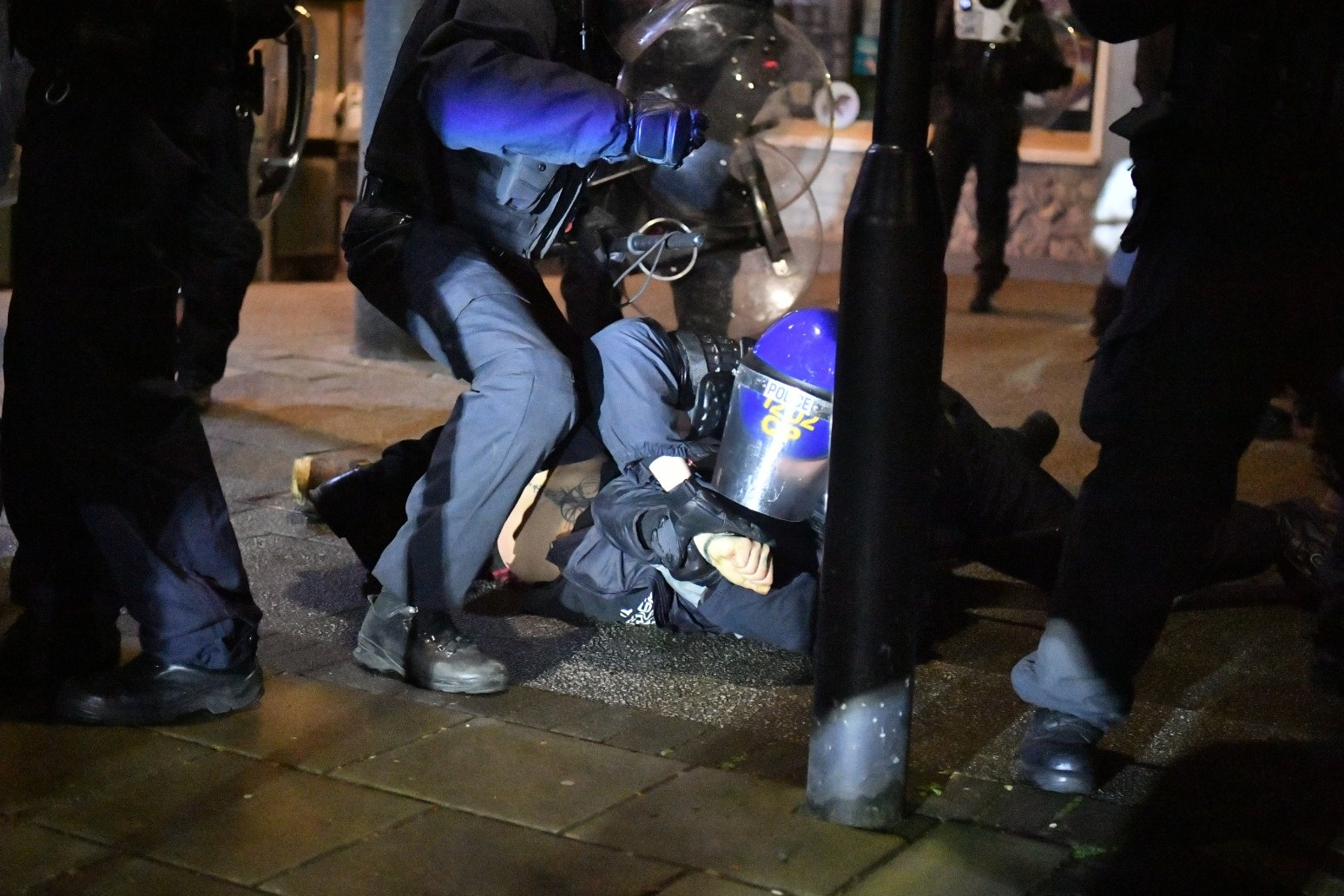Ten arrested amid violence at third Kill the Bill demonstration in Bristol
