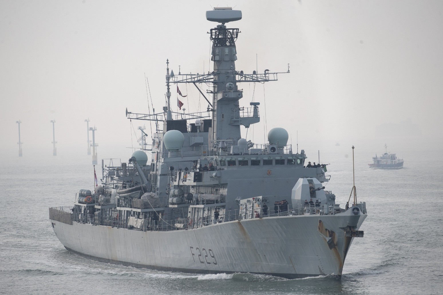 Royal Navy keeps watch over seven Russian warships in English Channel