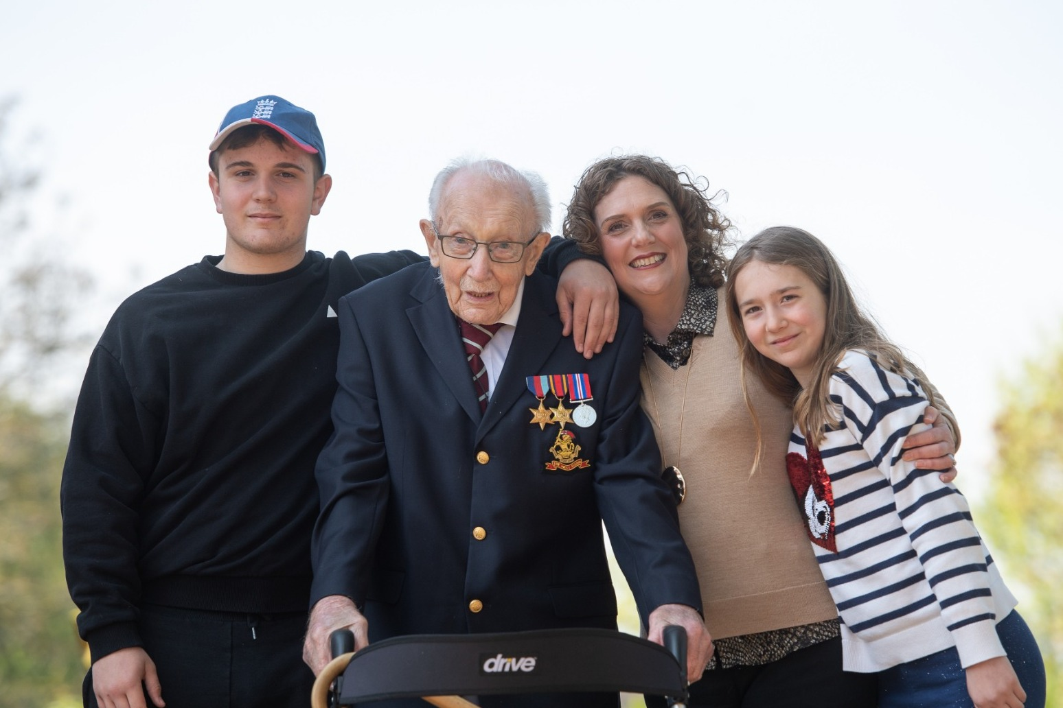 Captain Sir Tom Moore's family call on people to back '100 challenge'