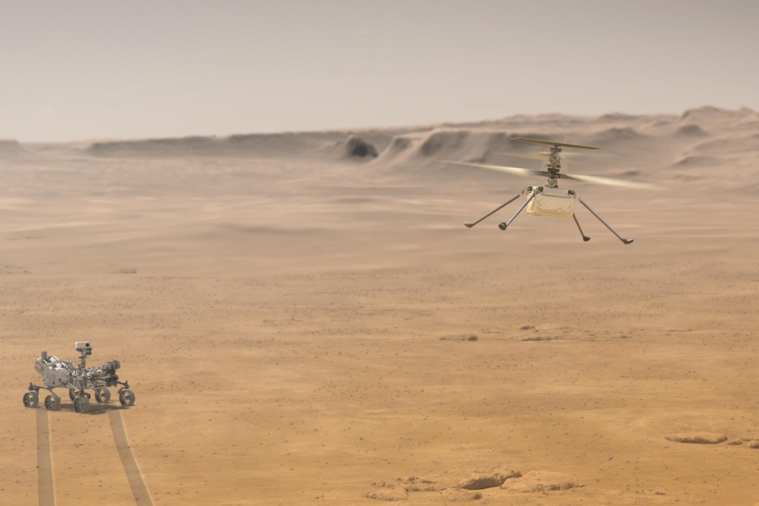 Nasa's Ingenuity Mars helicopter has completed the first ever controlled flight on another planet