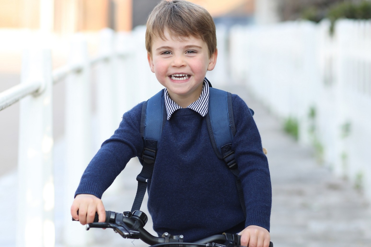 Prince Louis's third birthday marked with picture of young royal on his bike