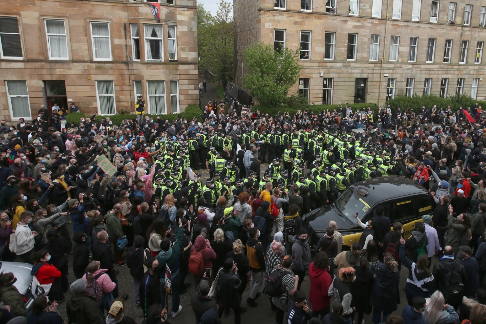 Charity considers legal action against Home Office over Glasgow immigration raid