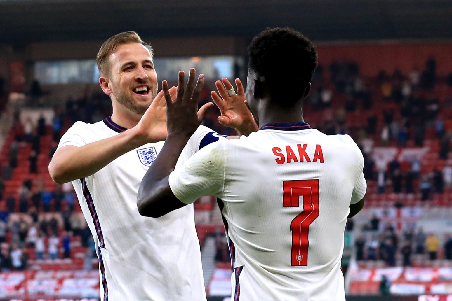 Bukayo Saka's first international goal earns England victory over Austria