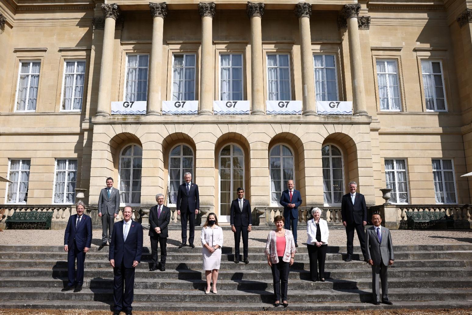 Chancellor heralds 'historic' tax deal at G7 finance meeting