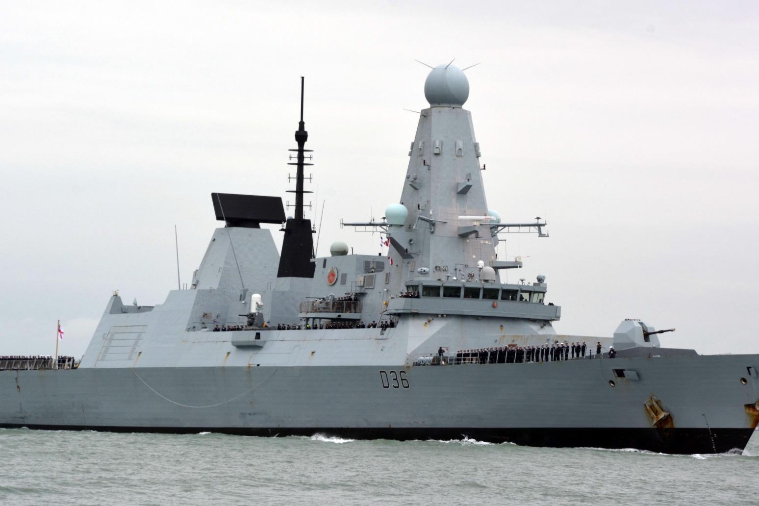 UK denies Russians fired warning shots at Royal Navy warship