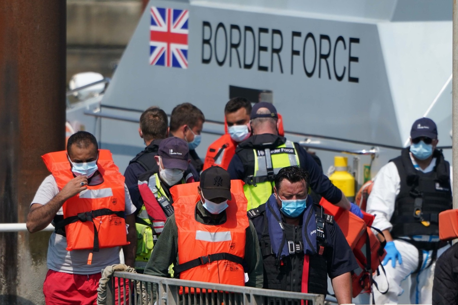 Nearly 600 migrants intercepted as attempted English Channel crossings continue.