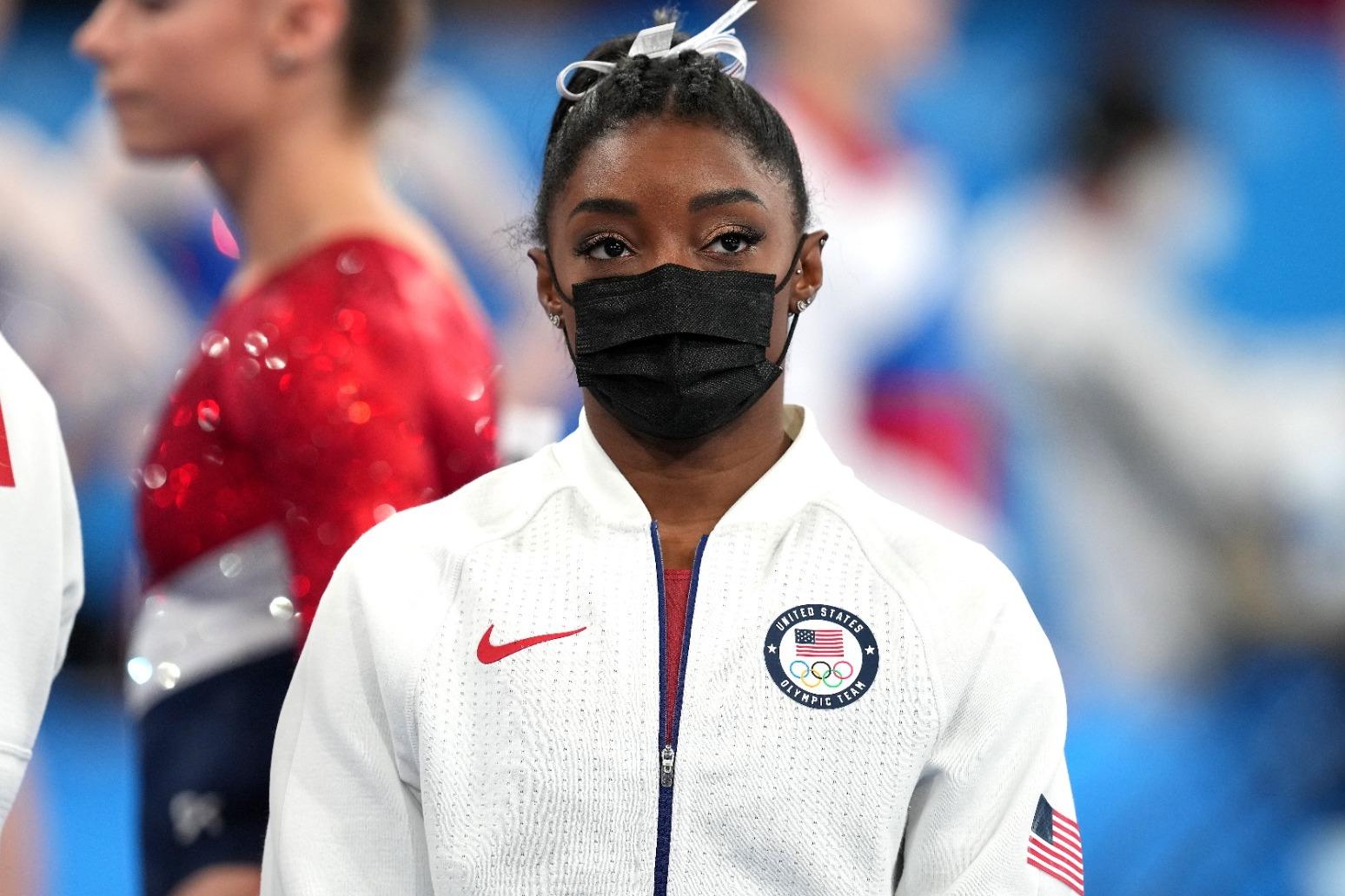 Olympian Simone Biles praised for speaking openly on mental health struggles