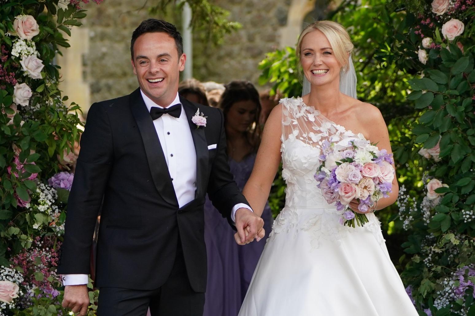 Ant McPartlin weds Anne-Marie Corbett