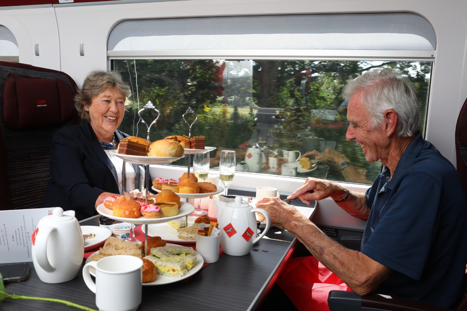 The train now arriving will be happy to serve you afternoon tea