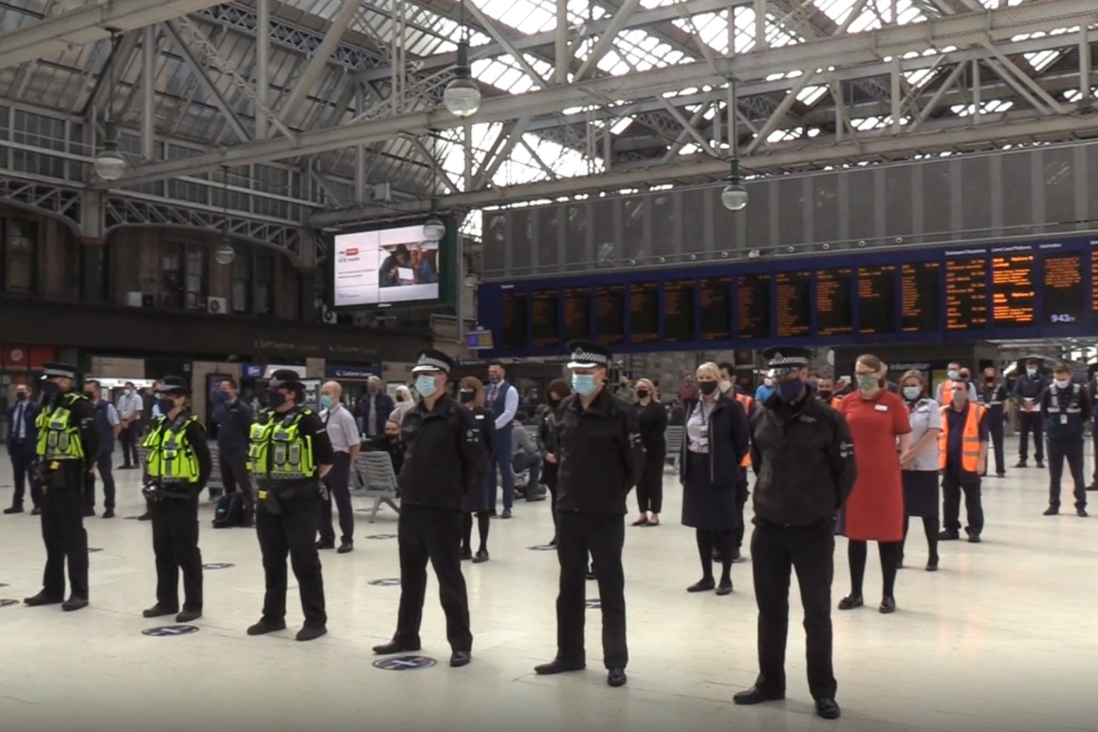 Minute's silence held to mark one year since Stonehaven rail disaster