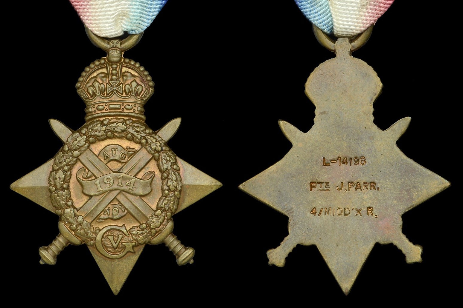 Medal belonging to first British soldier killed in Great War sells for £17,000