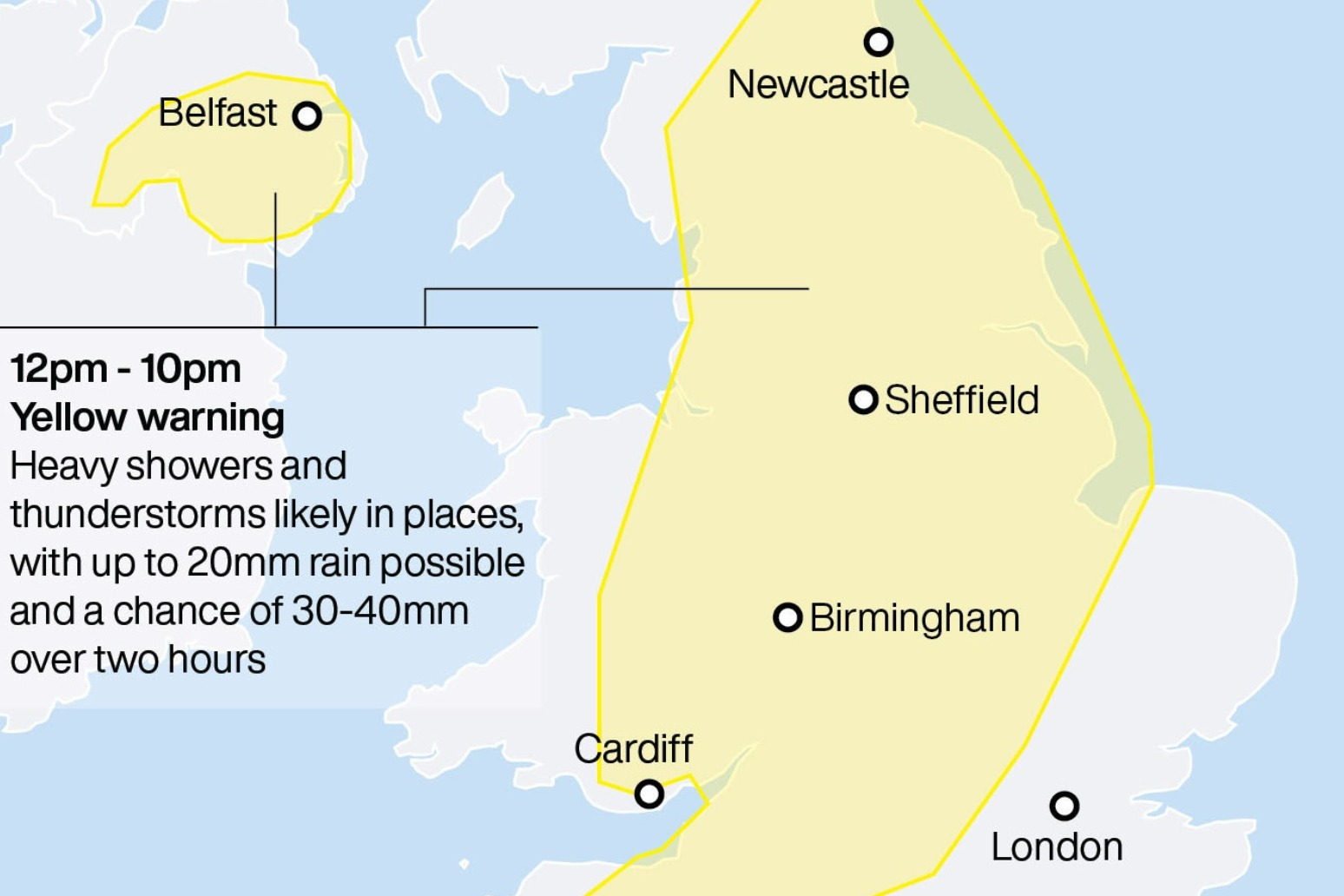 Stormy Saturday brings threat of floods and power cuts