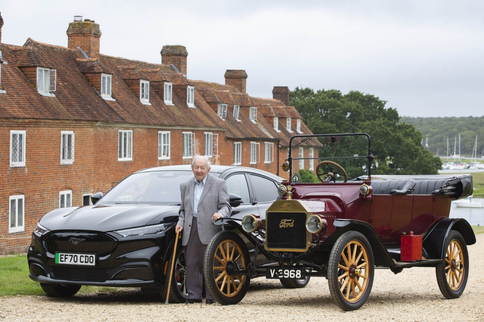 101-year-old motoring enthusiast takes new fully electric Ford for a spin