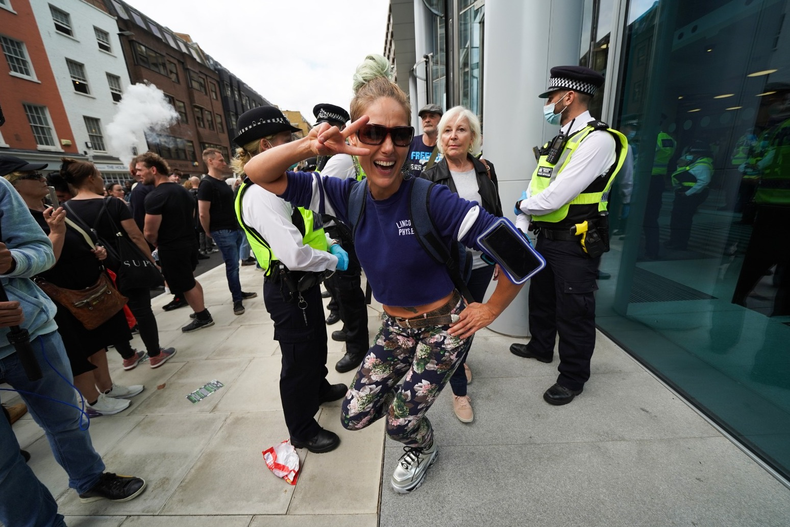 Anti-vaxx protesters 'force their way into ITN's London headquarters'