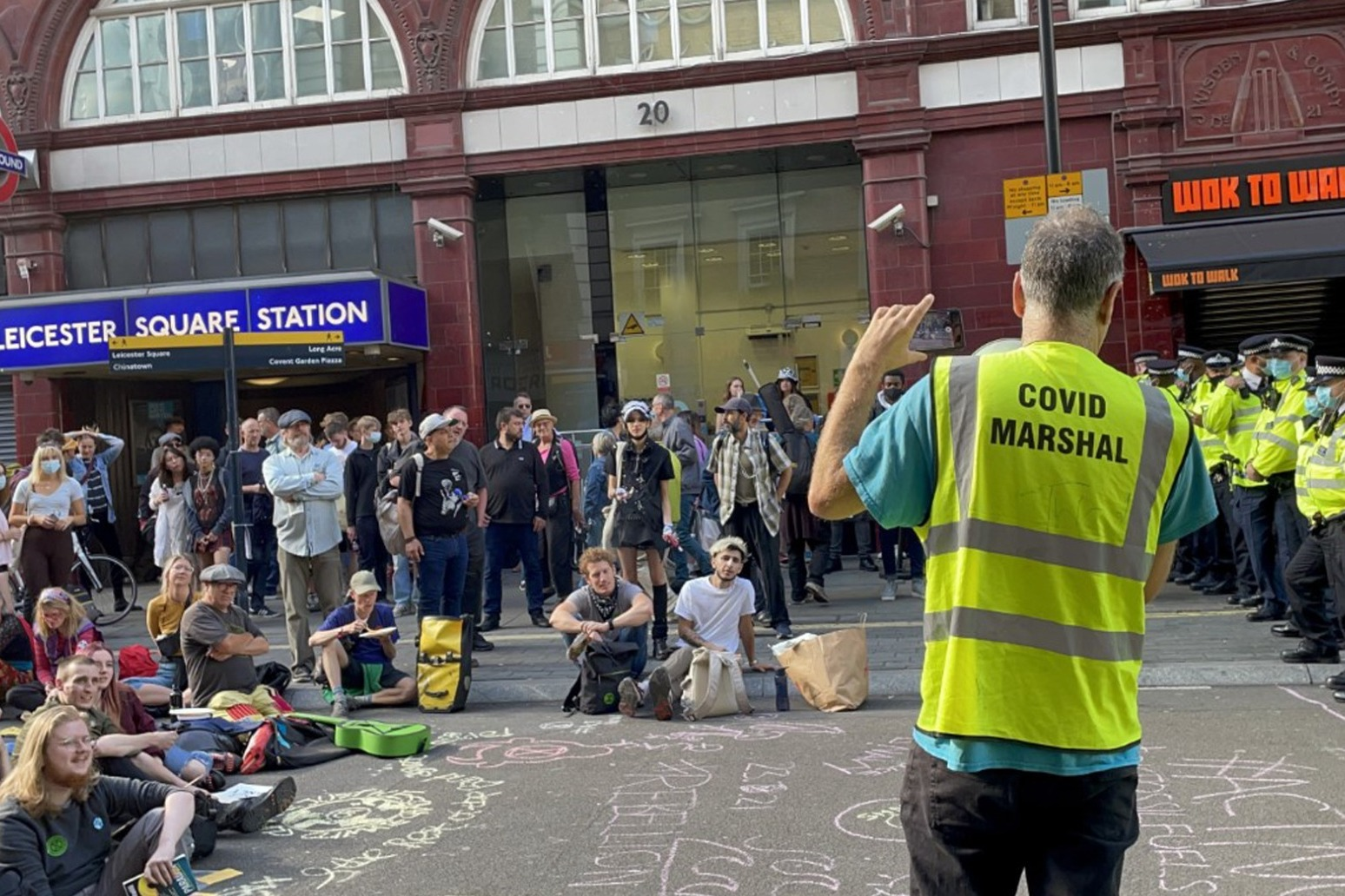 Extinction Rebellion block roads in central London in climate crisis protests
