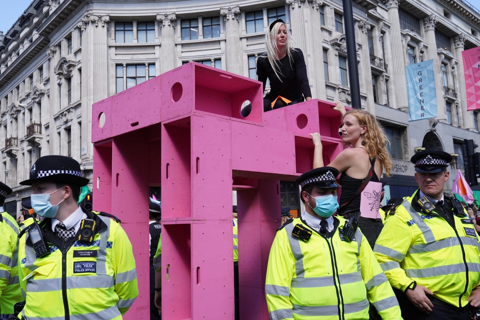 Number of people arrested at XR protests nears 200 as Oxford Circus targeted