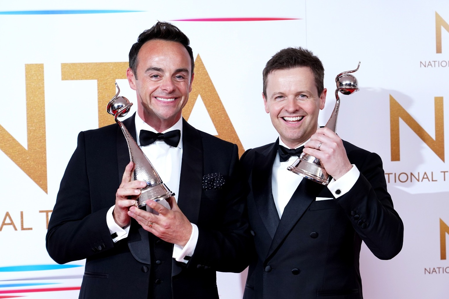 Ant and Dec win best TV presenter at NTAs for 20th time