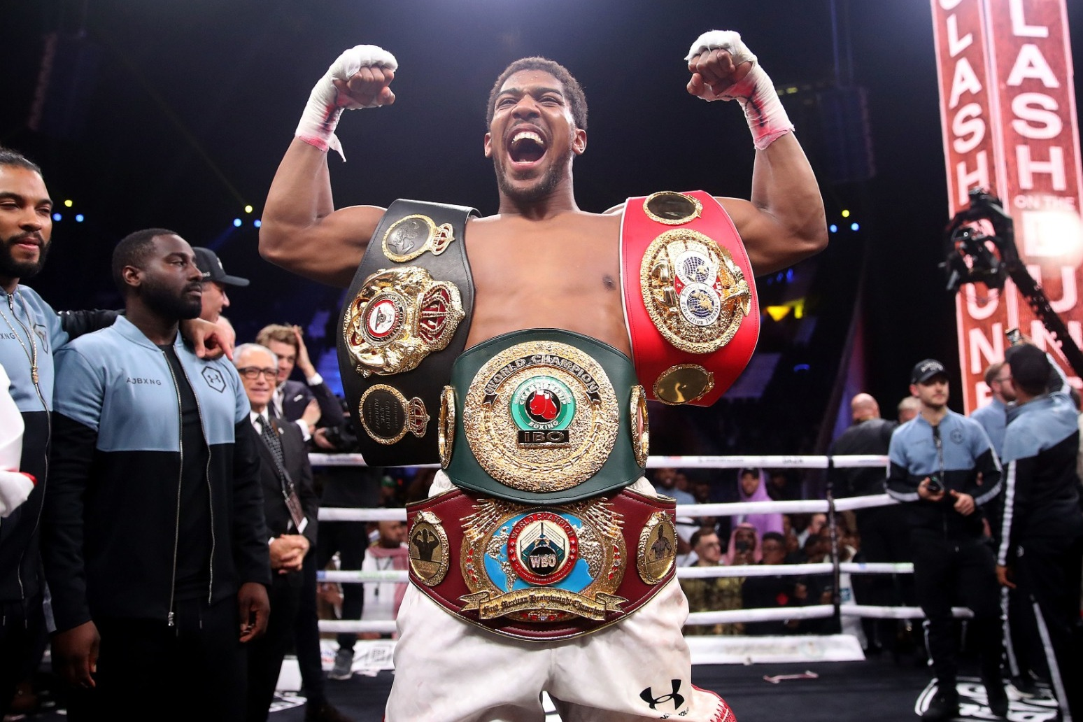 Joshua praises Oleksandr Usyk for 'jumping in at the deep end'