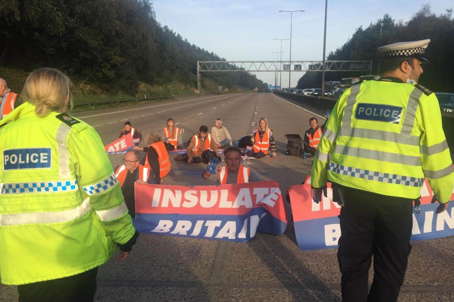 M25 protesters declare 'campaign goes on' despite prison threat