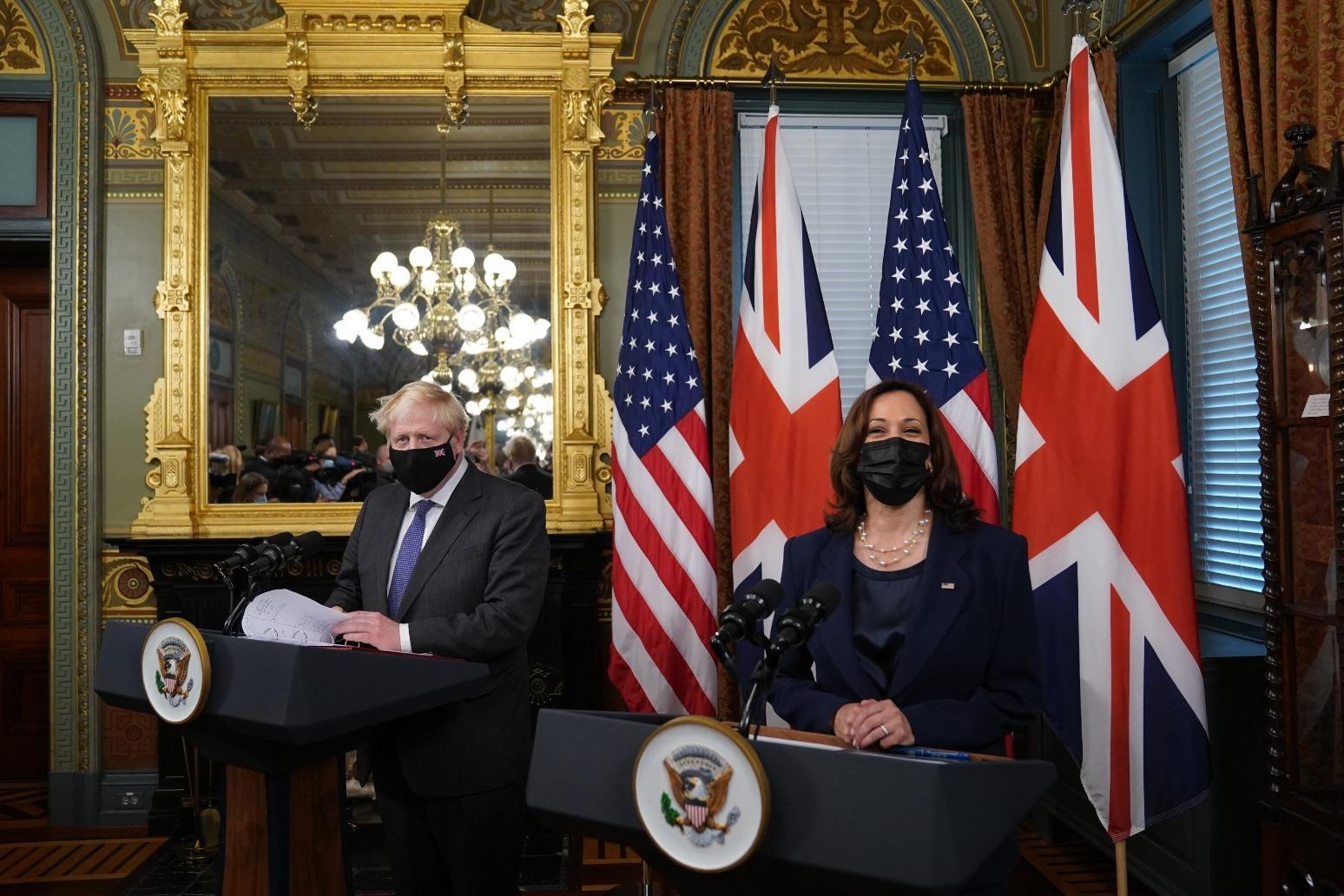 Boris Johnson arrives at White House for talks with Joe Biden