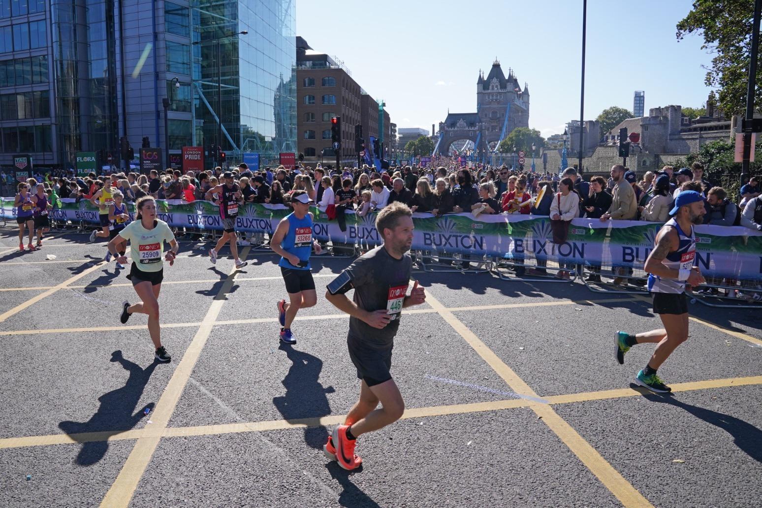 Sunshine and smiles as London Marathon returns.