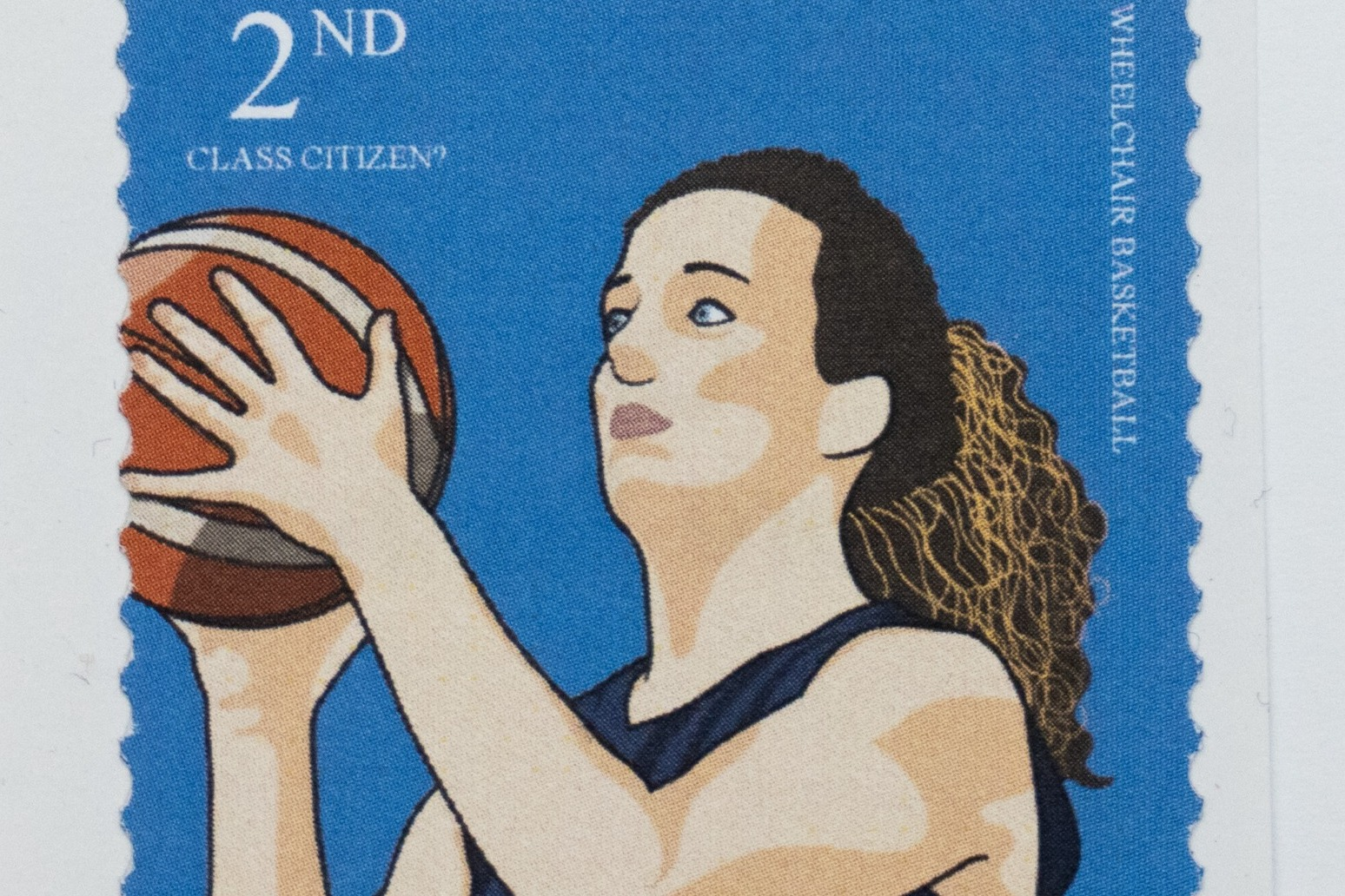 Paralympians feature on mock 'second-class' stamps to highlight inequality