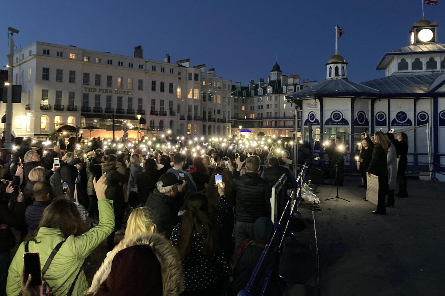 Lights in the darkness at Eastbourne vigil for murdered school teacher Sabina Nessa