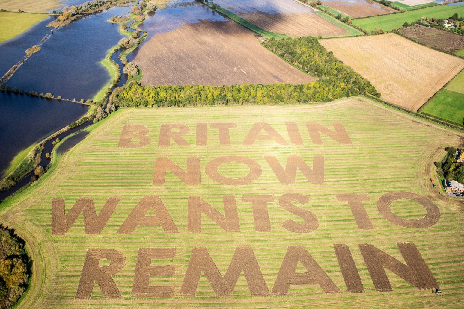 Huge Brexit message appears in Wiltshire