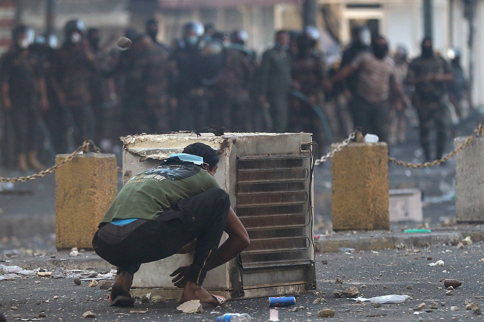 SIX KILLED AND 100 HURT IN BAGHDAD ANTI-GOVERNMENT PROTESTS