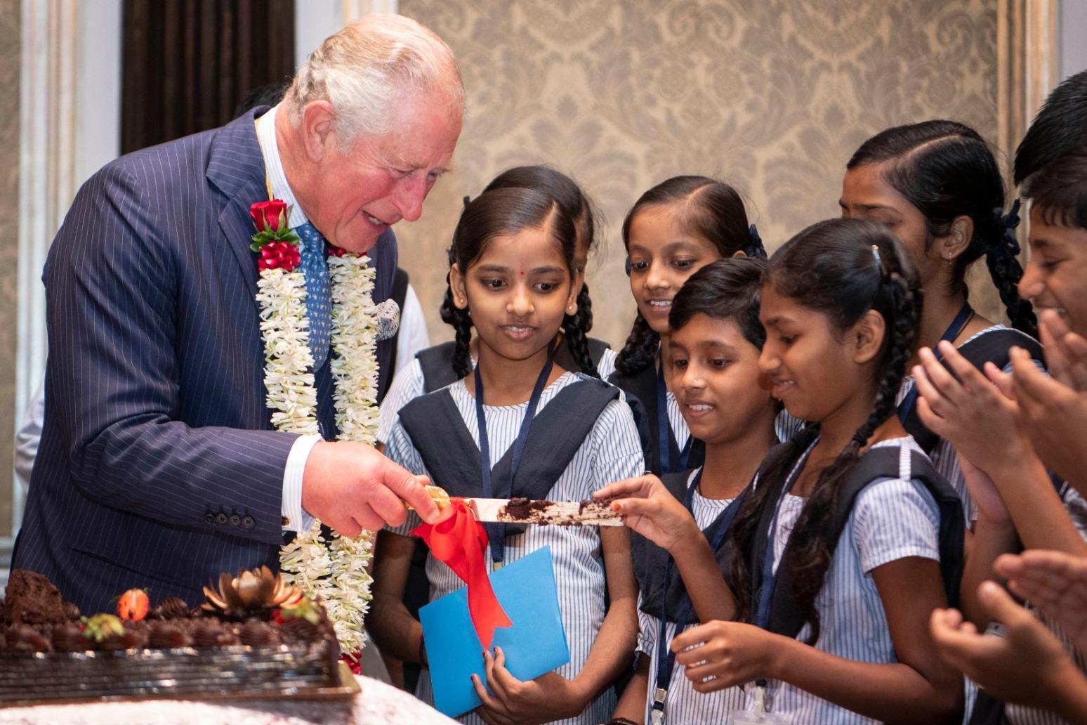 CHARLES GIVEN FAIRY GARDENS AS BIRTHDAY GIFT FROM MUMBAI SCHOOLCHILDREN