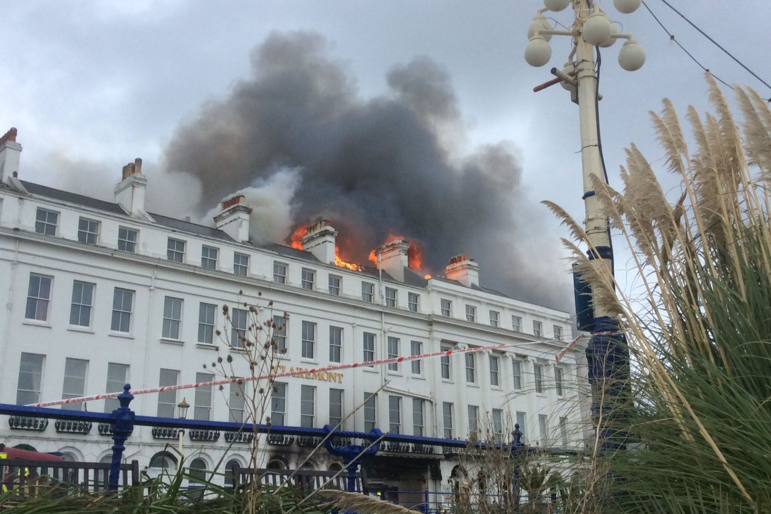 STAFF AT FIRE-HIT SEAFRONT HOTEL PRAISED AFTER EVACUATION