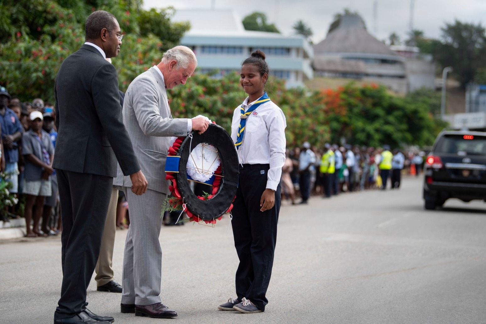 PRINCE OF WALES MEETS BOY WHO HELPED A US SOLDIER GET A BURIAL 77 YEARS ON