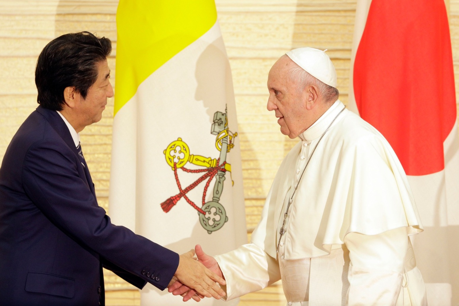 POPE FRANCIS LEARNS OF EFFECTS OF JAPAN\'S FUKUSHIMA NUCLEAR PLANT DISASTER