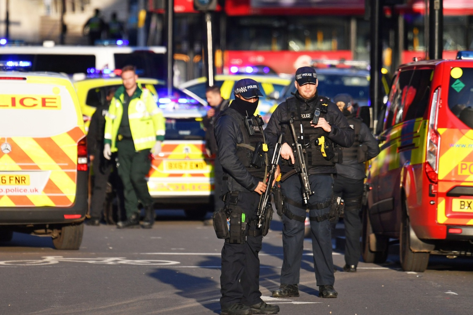 MAN HELD BY POLICE AND NUMBER OF PEOPLE INJURED FOLLOWING LONDON BRIDGE STABBING