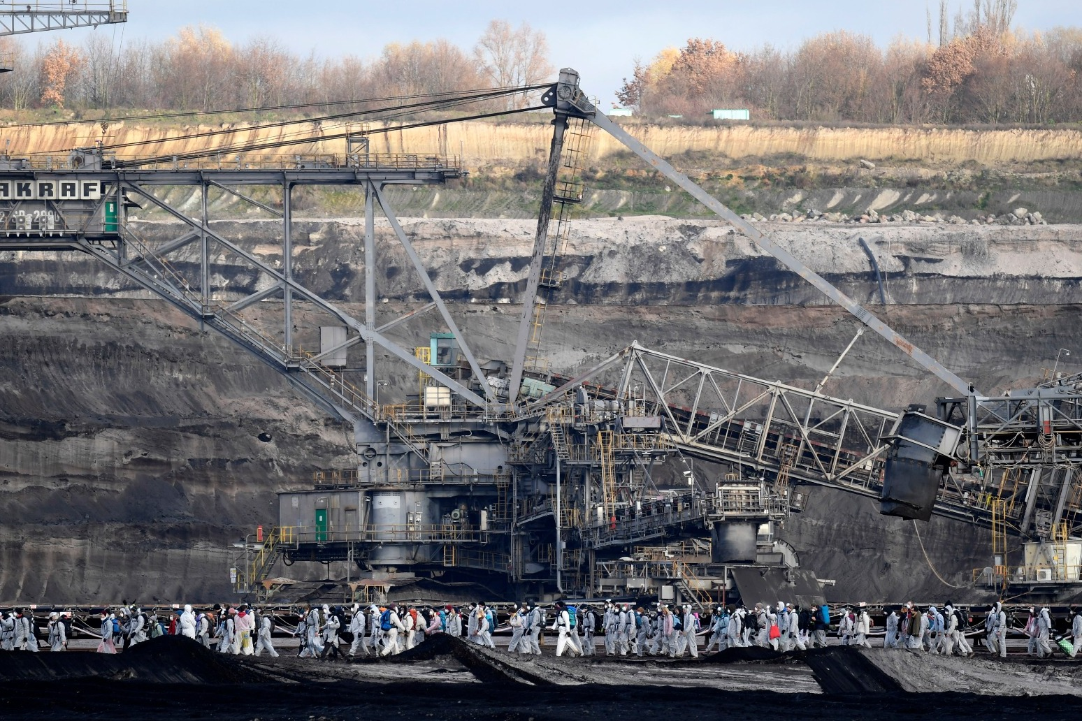 CLIMATE PROTESTERS TARGET EAST GERMAN COAL MINES