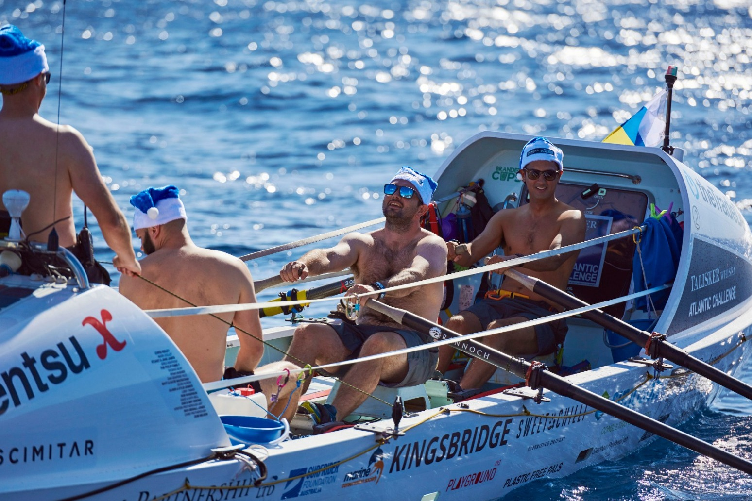 HAT TRICK FOR ATLANTIC ROWERS AS THEY MISS OUT ON CHRISTMAS DINNER